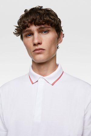 Zara Polo piqué contraste
