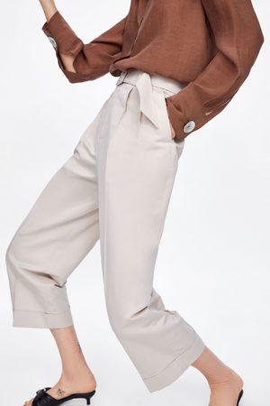 Zara Pantalón pinzas cinturón