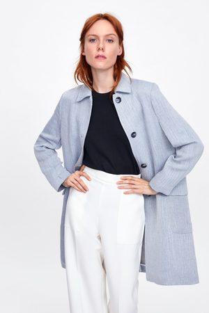 Zara Abrigo rústico botones