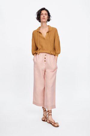 Zara Pantalón culotte botones