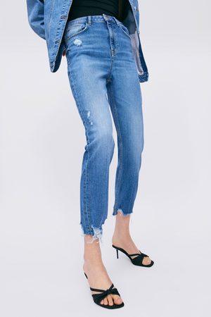 Zara Mujer Skinny - Jeans z1975 high rise skinny rotos