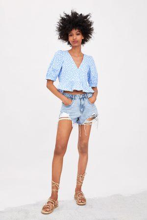 Zara Camisa peplum estampada
