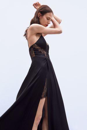 Zara Vestido largo encaje edición limitada