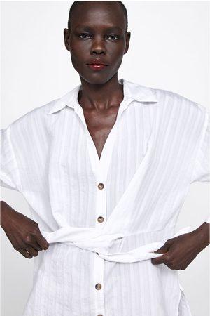 Zara Túnica rayas nudo