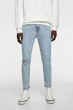 Zara Jeans skinny carrot rotos