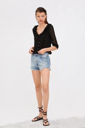 Zara Camisa plumeti volante