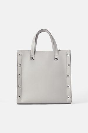 Zara Bolso shopper cuadrado ollados