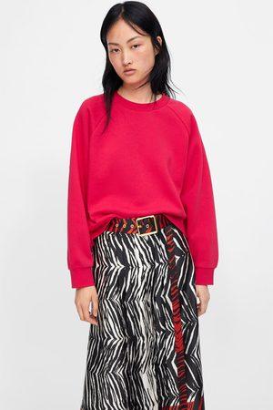 Zara Mujer Sudaderas - Sudadera felpa