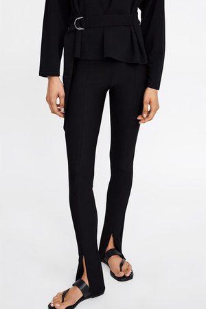 Zara Mujer Leggings y treggings - Legging cremallera