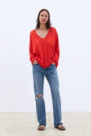 Zara Jersey oversize cuello pico