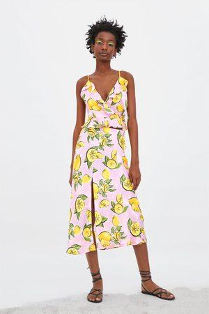 Zara Top estampado limones