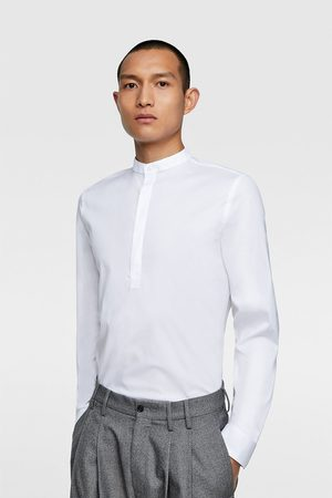 Zara Camisa cuello mao