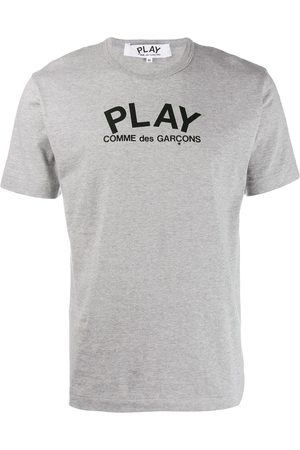 Comme des Garçons Hombre Playeras - Playera con cuello redondo y logo
