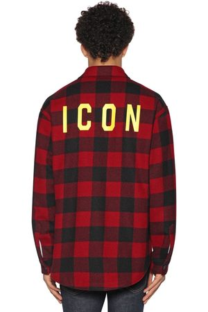 "Dsquared2 Camisa ""icon"" De Franela De Lana"