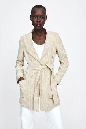 Zara Abrigo rústico rayas