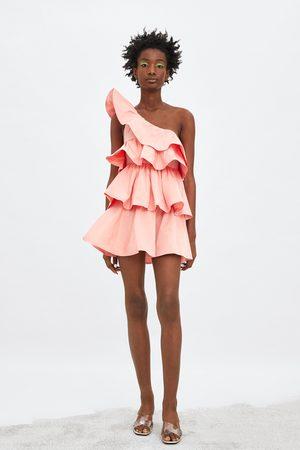 Zara Vestido asimétrico volantes edición limitada