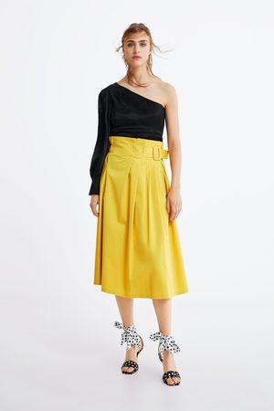 1a9cf2bf26 Compra Zara Faldas Midi de mujer online