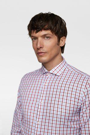 Zara Camisa cuadros estructura bicolor