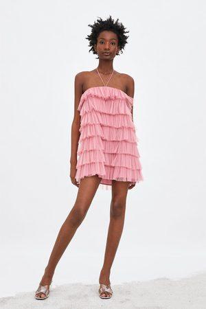 Zara Vestido tul volantes edición limitada