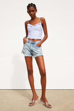 Zara Mujer Camisas - Cuerpo drapeado volante