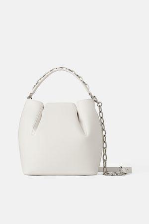 Zara Bolso de mano saco asa cadena