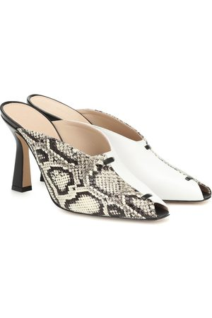 Wandler Mujer Zuecos - Niva snake-effect leather mules