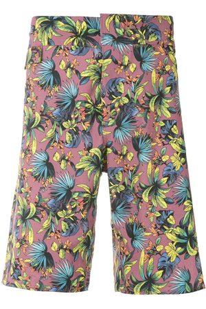 AMIR SLAMA Shorts de playa con estampado silvestre
