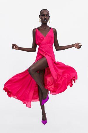 Zara Vestido largo cruzado edición limitada