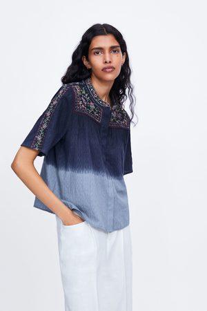 Zara Blusa bordados tie dye