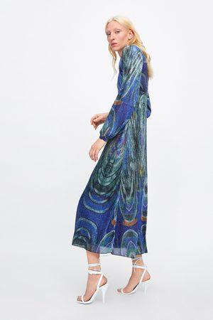 Zara Vestido hilo metalizado edición limitada