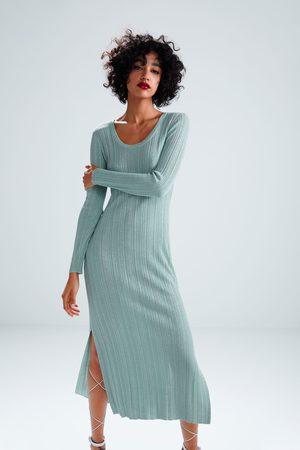 Zara Vestido hilo metalizado