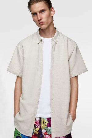 Zara Camisa rústica manga corta