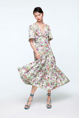 Zara Vestido midi estampado
