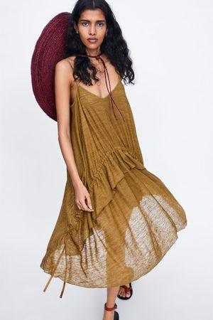 Zara Vestido tirantes frunce