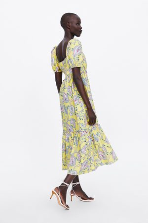 b19d052a31 Vestidos Estampados de mujer Zara amarillas ¡Compara ahora y compra ...