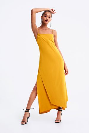 Zara Vestido lencero aberturas