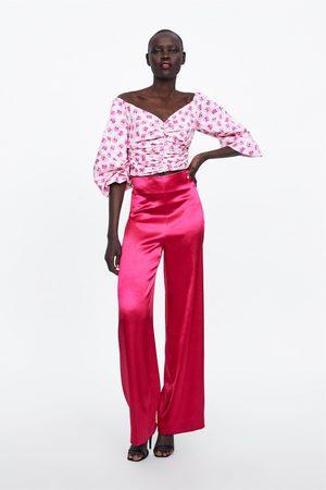 Zara Pantalón ancho satinado edición limitada