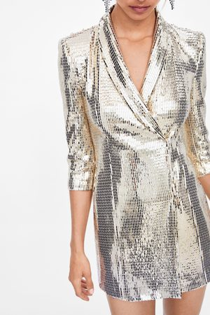 Zara Blazer vestido brillos