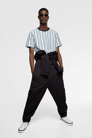 Zara Camiseta rayas verticales