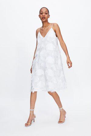 Zara Vestido flecos