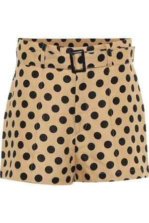 Lisa Marie Fernandez Mujer Estampados - Polka-dot linen shorts