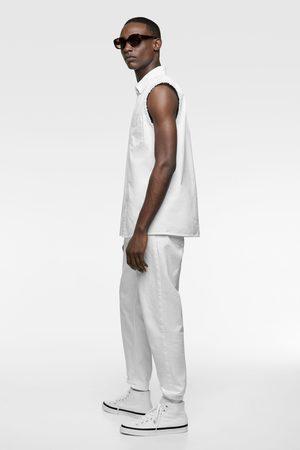 Zara Camisa denim sin mangas