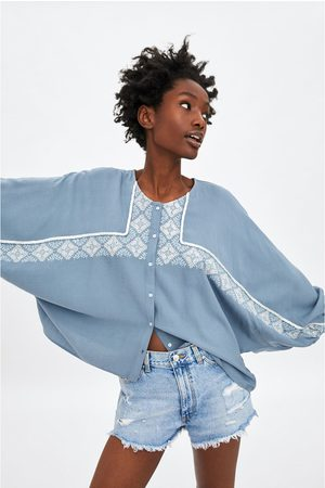 Zara Camisa bordados