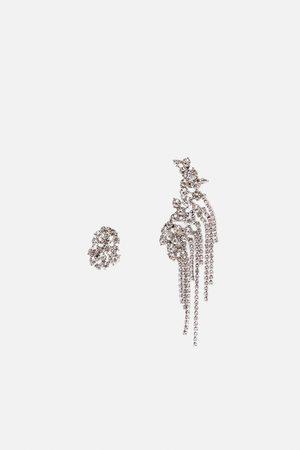 Zara Pendientes irregular earcuff brillo