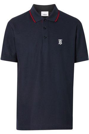 Burberry Hombre Polos - Icon Stripe Placket Cotton Piqué Polo Shirt