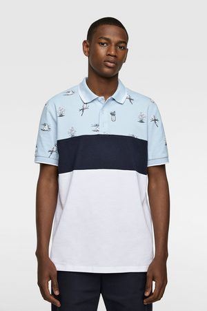 Zara Polo color block combinado