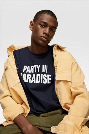 Zara Camiseta estampación contraste