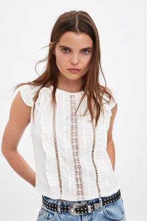 Zara Camiseta combnada volantes