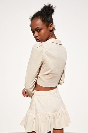 Zara Camisa cropped lazo