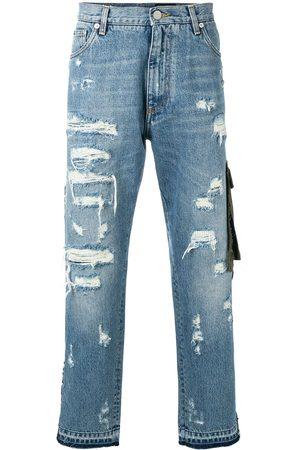 Dolce & Gabbana Hombre Jeans - Jeans con detalles rasgados